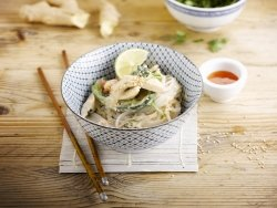 Coconut courgette wok