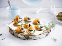 Blini with Salmon and Dill