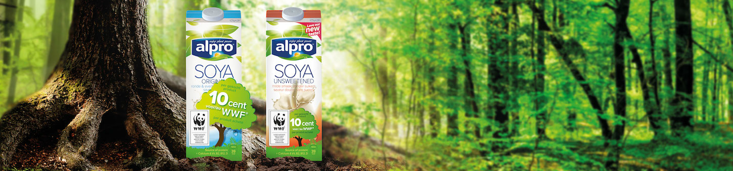 Alpro & WWF join forces to protect our forests