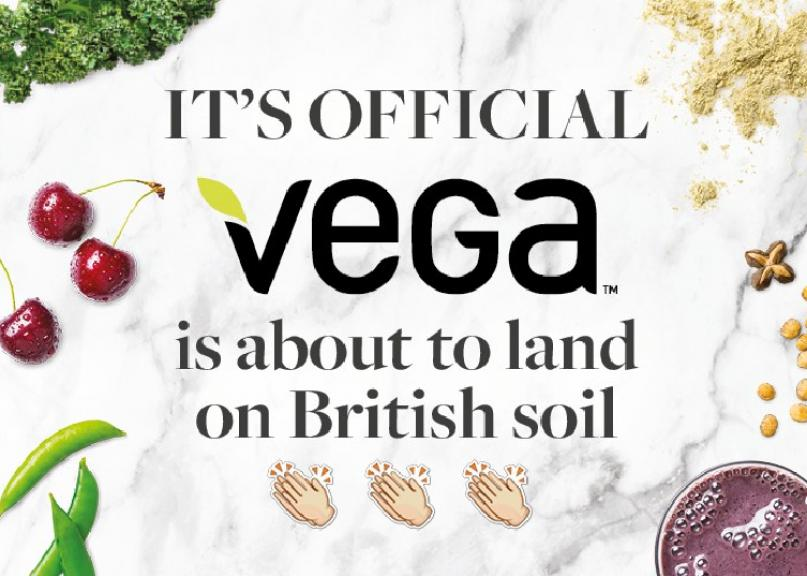 Vega® hits the UK with clean, plant-based nutrition range