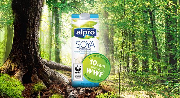 Alpro en WWF bundelen de krachten tegen ontbossing