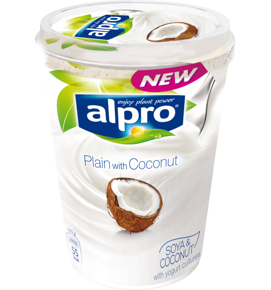 Product packaging of Alpro Plain with Coconut