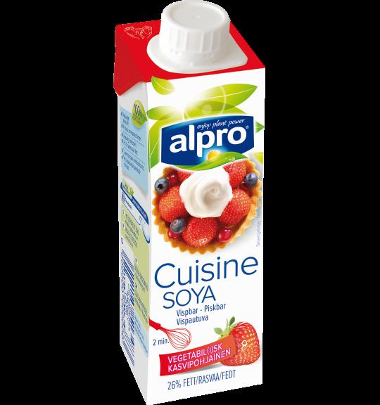 Plantebaseret fl dealternativ lille soja piskbar alpro for Alpro soja cuisine