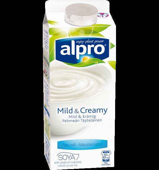 Produktförpackning av Alpro Mild & Creamy Naturell