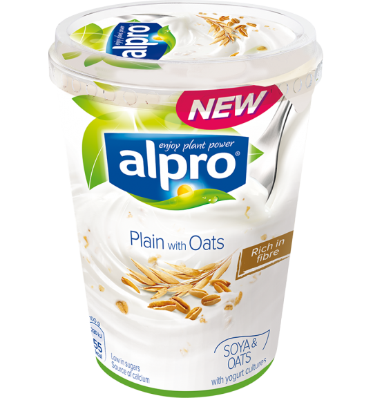 Product packaging of Alpro Plain with Oats