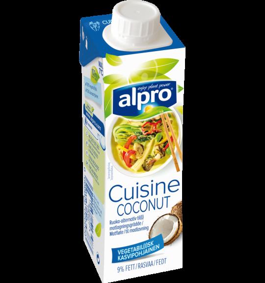 Tuotepakkaus Alpro Kookos ruoanlaittovalmiste
