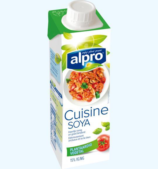 plantaardig alternatief voor room | klein |soya cuisine | alpro