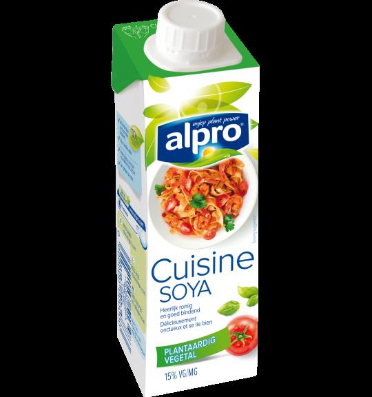 L'emballage du produit Soja Cuisine