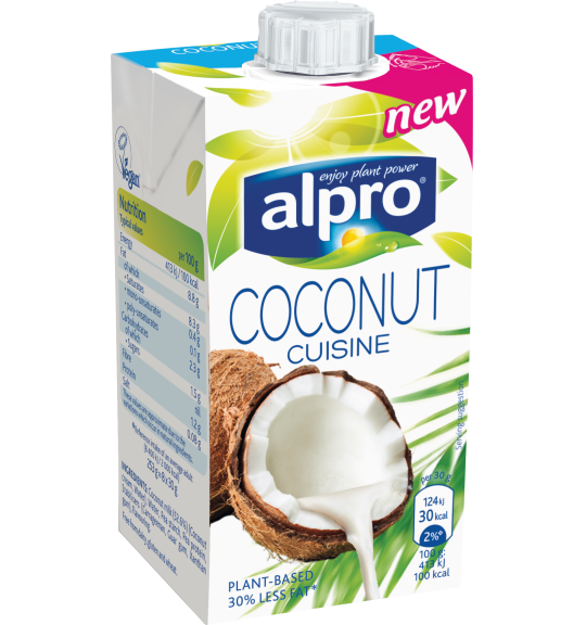 alpro plant based alternative to cream coconut cuisine