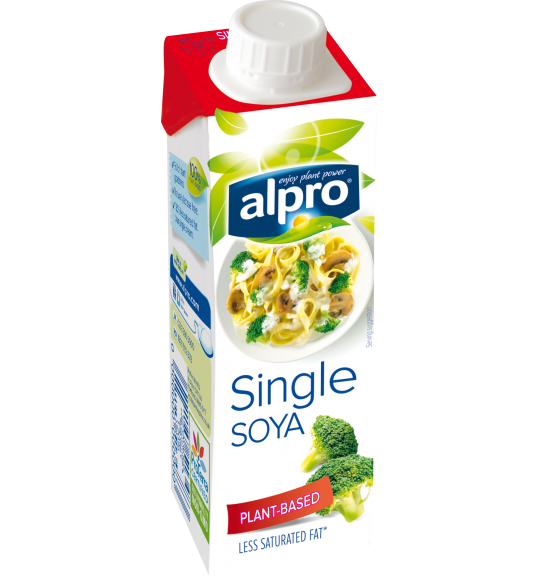plant based cream alternative small soya single alpro