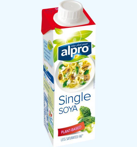 plant based cream alternative small soya single alpro. Black Bedroom Furniture Sets. Home Design Ideas