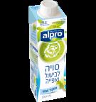אריזת מוצר של אלפרו לבישול על בסיס סויה 250 מ