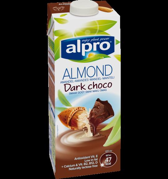 Produktförpackning av Alpro Mandel Mörk choklad