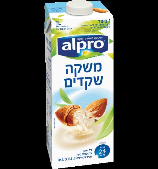 אריזת מוצר של אלפרו משקה שקדים