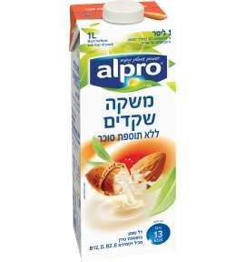 אלפרו משקה שקדים ללא תוספת סוכר