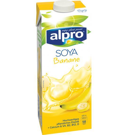 Sojadrink Mit Geschmacksrichtung Banane Alpro