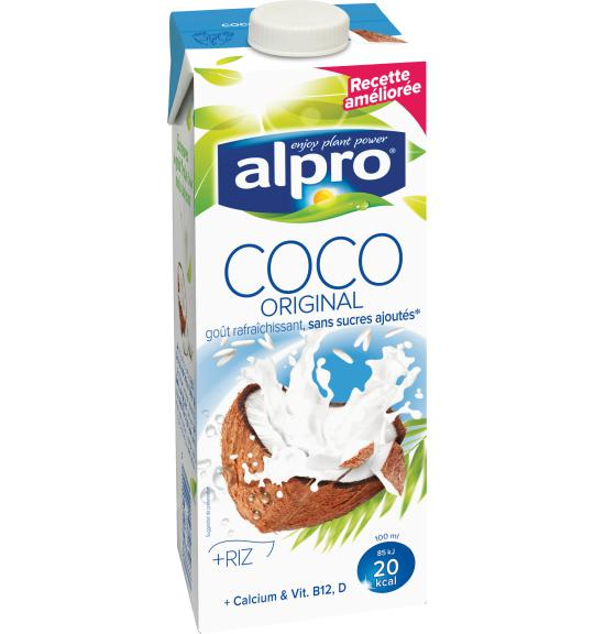 Boisson base de noix de coco original alpro for Cocktail lait de coco