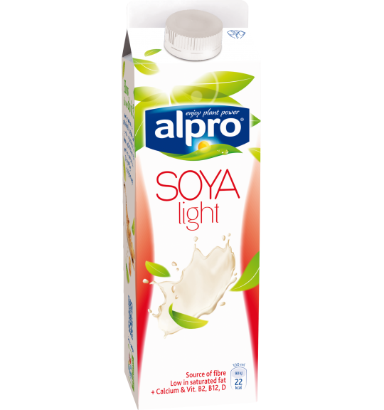 Product packaging of Alpro Soya Light Chilled
