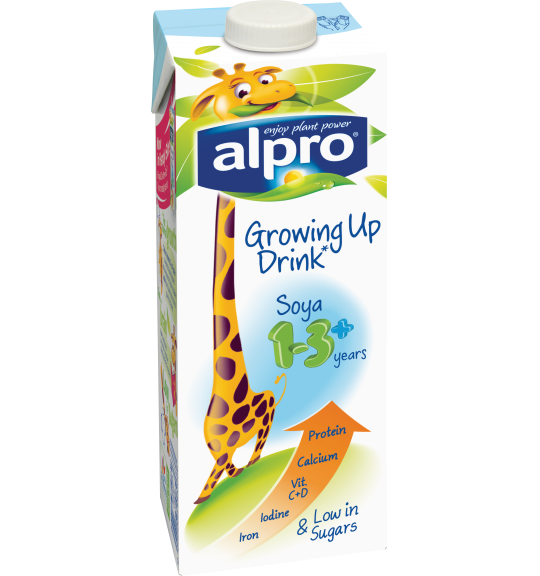 Product packaging of Alpro Soya Growing Up drink 1-3+