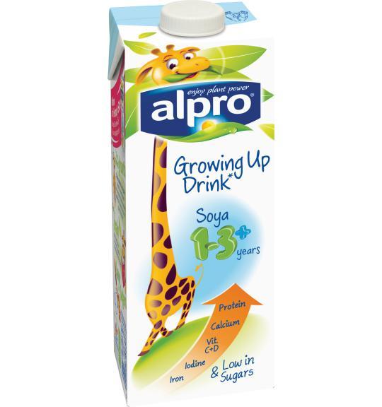 Alpro Soya Growing Up Drink 1 3 Alpro