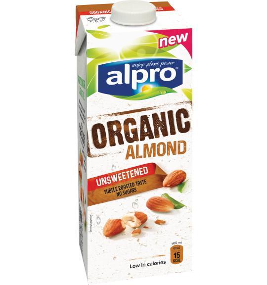Almond Drinks I Almond Organic Unsweetened Alpro