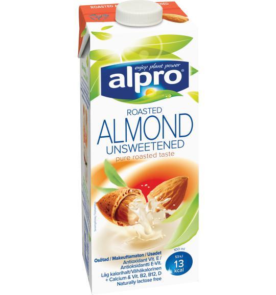 Osötad mandelmjölk näringsinnehåll