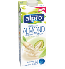Product packaging of Alpro Almond Unroasted Unsweetened