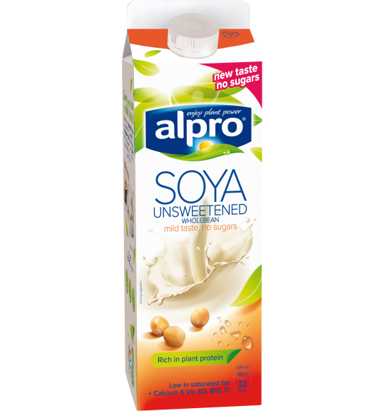 Product packaging of Alpro Soya Unsweetened Chilled