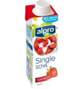 Plant based cream alternative small soya single for Alpro soya cuisine light