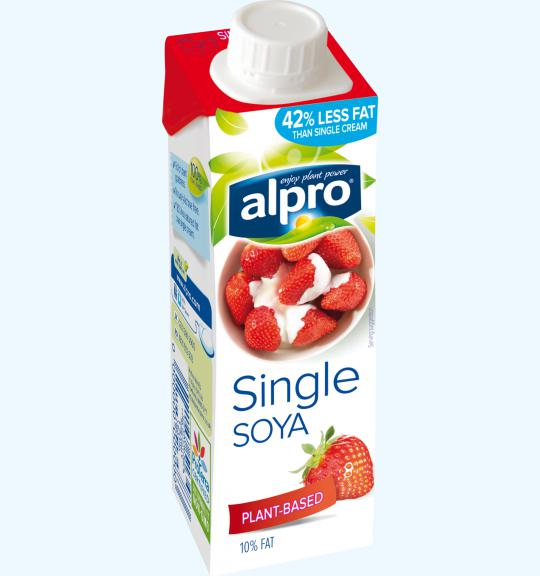 plant based cream alternative small soya single