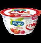 produktemballage til Alpro Go On Jordbær Hindbær