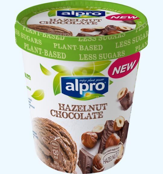 Ice cream hazelnut chocolate alpro for Alpro soya cuisine
