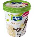 Product packaging of Alpro Vanilla ice cream