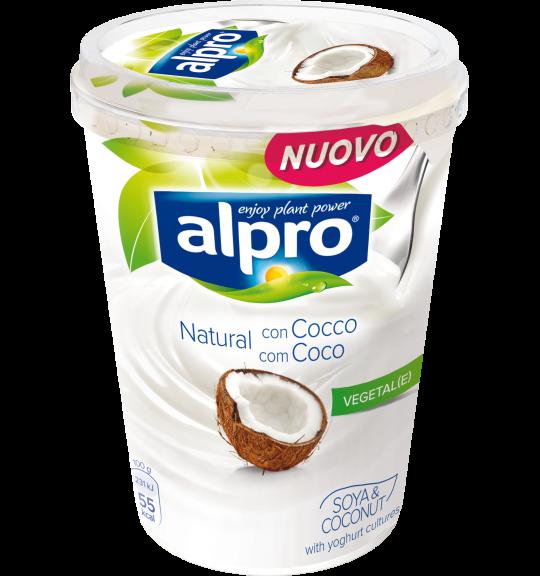 Confezione di Alpro Natural con Cocco