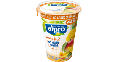 With more fruit and no added sugars I Mango | Alpro