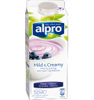 Produktförpackning av Alpro Mild & Creamy Blåbär