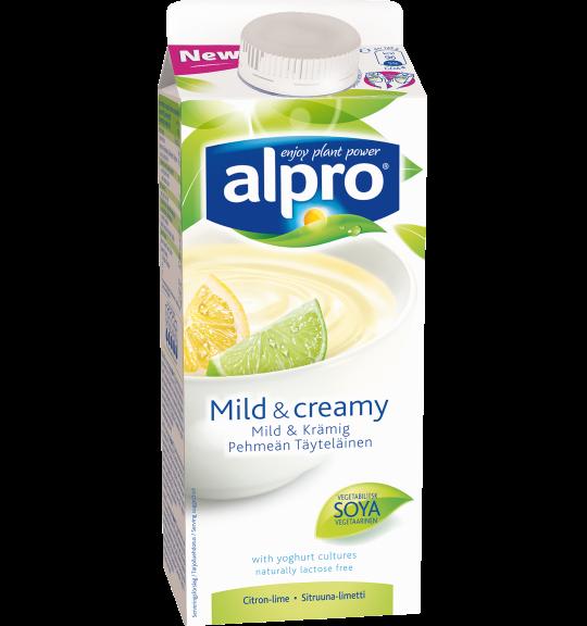 produktemballage til Alpro Mild & Creamy Lemon-Lime
