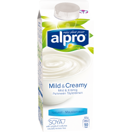 produktemballage til Alpro Mild & Creamy Naturel