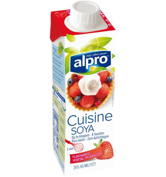 Alternative v g tale la cr me petit soya a fouetter for Alpro soja cuisine