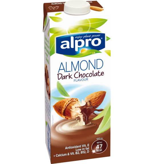 Product packaging of Alpro Almond Dark Chocolate