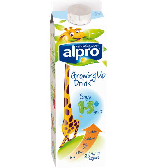 Product packaging of Alpro Soya Growing Up drink 1-3+ Chilled