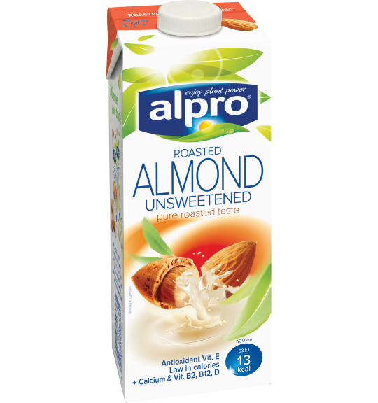 Product packaging of Alpro Almond Roasted Unsweetened