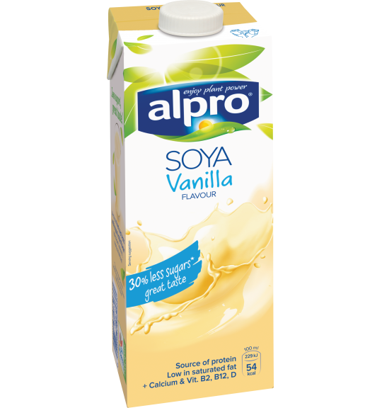 Product packaging of Alpro Soya Vanilla