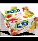 produktemballage til Alpro Fersken/Pære & Jordbær/Banan