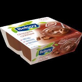 L'emballage du produit Belsoy pudding au Chocolat biologique
