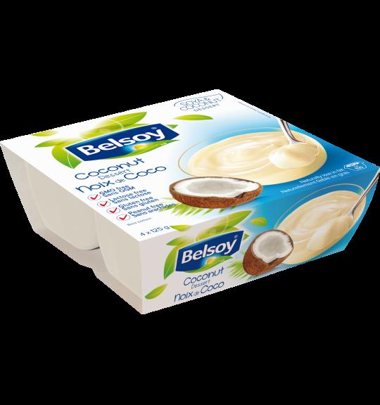 L'emballage du produit Belsoy Dessert Noix de Coco