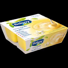 L'emballage du produit Belsoy dessert à la vanille française