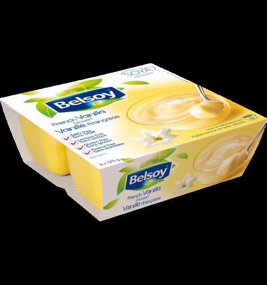 Belsoy dessert à la vanille française