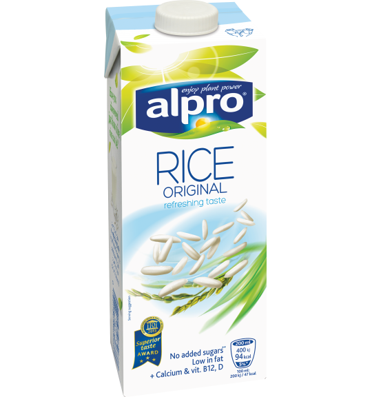 Product packaging of Alpro Rice Original