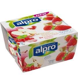 Alpro Eple med Rips & Jordbær med Rabarbra